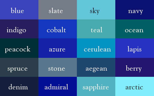 The Color Thesaurus – Kevin A  Ranson @ ThinkingSkull com